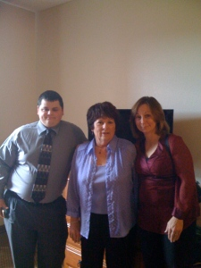 Matt, My Mom, and Bonnie at Marcus and Melissa's Wedding