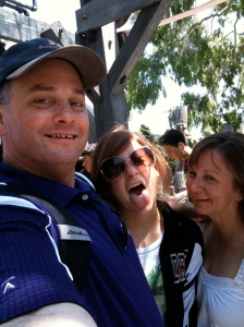 Me, Jessica and Bonnie having a great time at Knott's Berry Farm